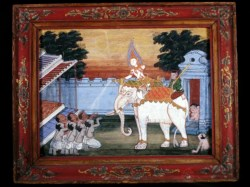 WALTERS: Thai: Vessantara Jataka, Chapter 2: Kalinga Brahmins are Given the White Elephant 1875