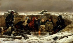 WALTERS: Alphonse de Neuville (French, 1835-1885): In the Trenches 1874
