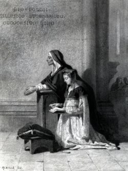WALTERS: Archille-Jean-Baptiste Zo (French, 1826-1901): Marguerite in Church Listening to the Dies Irae 1852