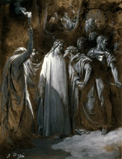 "WALTERS: Gustave Doré (French, 1832-1883): Study for ""The Judas Kiss"" 1865"