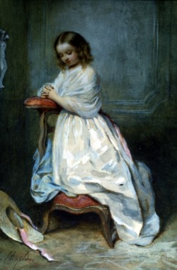 WALTERS: Charles Chaplin (French, 1825-1891): Girl in White Dress 1848