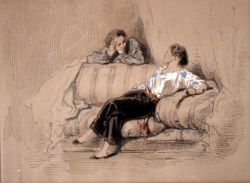 WALTERS: Paul Gavarni (French, 1804-1866): Lady on Sofa 1838
