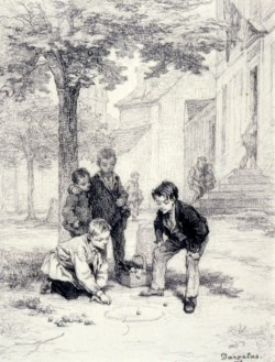 WALTERS: André-Henri Dargelas (French, 1828-1906): Boys Playing Marbles 1848