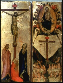 WALTERS: Jacopo del Casentino (Italian, 1279-ca. 1358): The Last Judgment and the Crucifixion 1340