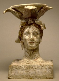 WALTERS: Greek: Incense Burner in the Form of a Female Head -300