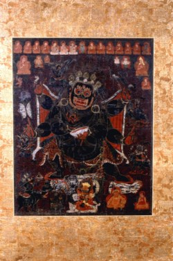 WALTERS: Tibetan: Mahakala and Retinue and Sakya Lineage 1400