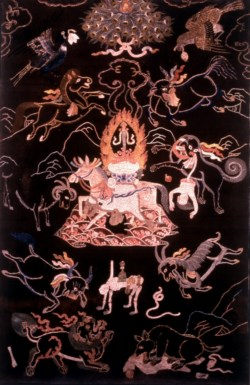 WALTERS: Sino-Tibetan: Offering Thanka of Protector Deity Palden Remati 1700