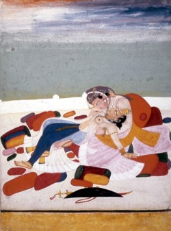 WALTERS: Chokha (Indian, active 1800-1825) (?): Lovers in Dalliance 1800