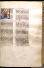 WALTERS: Miniatore di S. Alessio in Bigiano (Italian, active 13th-14th century): Leaf from Bentivoglio Bible 1258