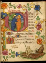 WALTERS: Master of Walters 323: Leaf from Barbavara Book of Hours 1428