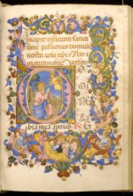 WALTERS: Zanobi di Benedetto Strozzi (Italian, 1412-1468): Leaf from Adimari Book of Hours 1448