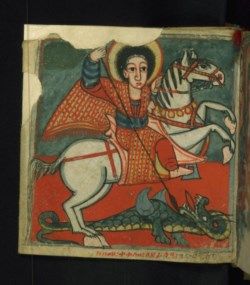 WALTERS: Ethiopian: St. George slaying the dragon 1675