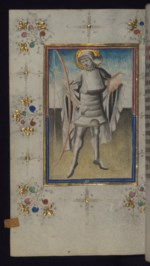 WALTERS: Masters of the Delft Grisailles: St. Sebastian 1430
