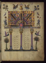 WALTERS: T'oros Roslin (Armenian, active 1256-1268): Canon Table 1262