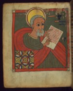 WALTERS: Ethiopian: Portrait of the Evangelist Matthew 1500