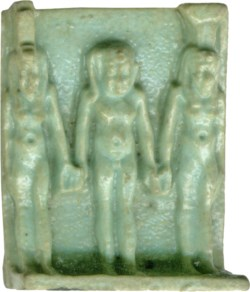 WALTERS: Egyptian: Triad of Isis, Nepthys, and Harpocrates -400