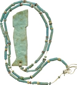 WALTERS: Egyptian: Son of Horus and Faience Beads -600