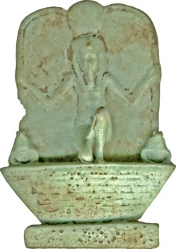 WALTERS: Egyptian: Kneeling Heh on a Basket -1070