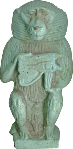 WALTERS: Egyptian: Thoth in the Form of a Baboon with Udjat Eye -664
