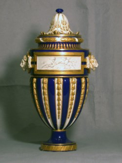 WALTERS: Sèvres Porcelain Manufactory (French, active 1756-present): One of a Pair of Vases (Vase à têtes de lion) 1765