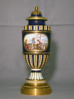 WALTERS: Sèvres Porcelain Manufactory (French, active 1756-present): One of a Pair of Fluted Vases (Vases cannele à bandeau) 1758