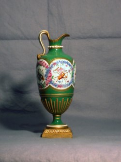 WALTERS: Sèvres Porcelain Manufactory (French, active 1756-present): One of a Pair of Pitchers (Vase en burette) 1755