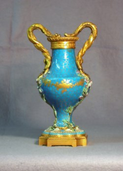 WALTERS: Sèvres Porcelain Manufactory (French, active 1756-present): Vase with Gilt-Bronze Mounts 1755