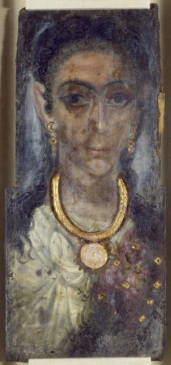 WALTERS: Egyptian: Mummy Portrait of a Woman from Fayum, Egypt 118