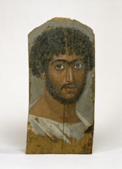 WALTERS: Egyptian: Mummy Portrait of a Bearded Man 158