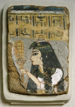WALTERS: Egyptian: Wall Painting: Woman Holding a Sistrum -1279