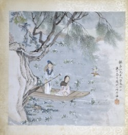 WALTERS: Zhao Deng'ao (Chinese, active 19th century): Boating Scene 1860