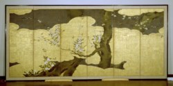 WALTERS: Style of Kaiho Yusho (Japanese, 1533-1615): Blossoming Cherry Trees 1588
