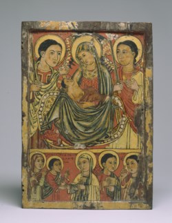 WALTERS: Ethiopian: Icon of the Virgin and Child with Angels 1475