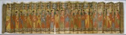 WALTERS: Ethiopian: Folding Processional Icon in the Shape of a Fan 1475
