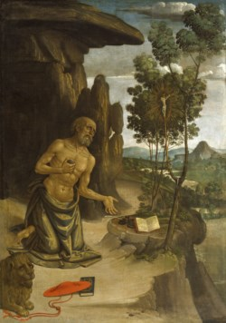 WALTERS: Bernardino Pinturicchio (Italian, ca. 1452-1513): Saint Jerome in the Wilderness 1475