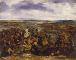 WALTERS: Eugène Delacroix (French, 1798-1863): Sketch for the Battle of Poitiers 1829
