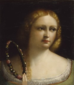 WALTERS: Dosso Dossi (Italian, ca. 1486-1542): Woman with a Wreath-Crown 1520