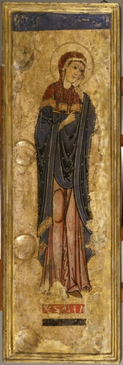 WALTERS: Alberto Sotio (Italian, active 1187): The Mourning Virgin Mary 1168
