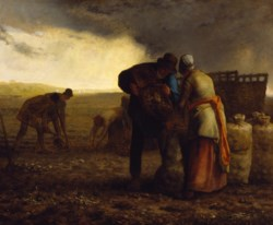 WALTERS: Jean-François Millet (French, 1814-1875): The Potato Harvest 1855