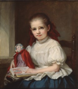 WALTERS: George Augustus Baker (American, 1821-1880): Portrait of Jennie Walters as a Little Girl 1848