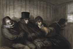 WALTERS: Honoré Daumier (French, 1808-1879): The Second Class Carriage 1864