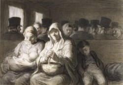 WALTERS: Honoré Daumier (French, 1808-1879): The Third Class Carriage 1864