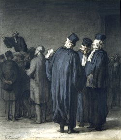 WALTERS: Honoré Daumier (French, 1808-1879): The Lawyers 1870