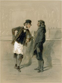 WALTERS: Paul Gavarni (French, 1804-1866): Car Man and Coal Heaver 1848