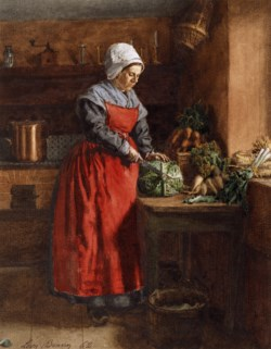 WALTERS: Léon Bonvin (French, 1834-1866): Cook with Red Apron 1862