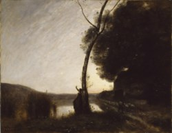 WALTERS: Jean-Baptiste-Camille Corot (French, 1796-1875): The Evening Star 1864