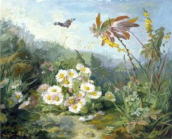 WALTERS: Jean-Marie Reignier (French, 1815-1886): Wild Flowers and Butterfly 1858