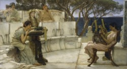 WALTERS: Sir Lawrence Alma-Tadema, R.A., O.M. (Anglo-Dutch, 1836-1912): Sappho and Alcaeus 1881