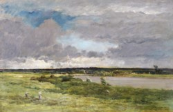 WALTERS: Charles François Daubigny (French, 1817-1878): The Coming Storm; Early Spring 1853