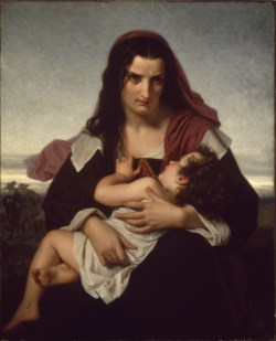 WALTERS: Hugues Merle (French, 1823-1881): The Scarlet Letter 1861